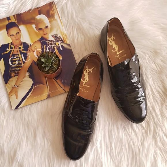 94d678bab2 🔥VTG YSL Mens Patent Leather Lace Up Dress shoe